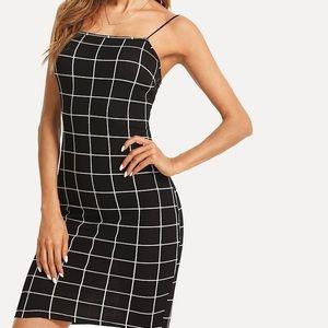Black & White Bodycon Dress